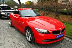 Red BMW Z4 Stock Images