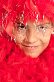 Red boa teen Royalty Free Stock Images