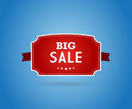 Red board with big sale sign. Royalty Free Stock Image