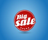 Red board with big sale sign. Stock Images