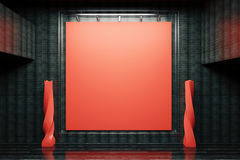 Red board in black interior Royalty Free Stock Photo