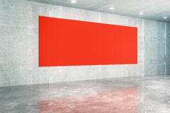 Red board concrete interior Stock Images