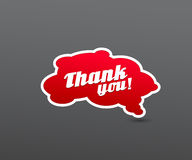 Red board with thank you sign. Stock Photo