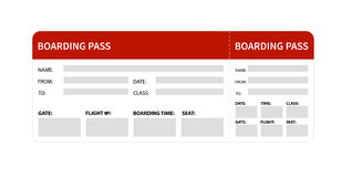 Red boarding pass Stock Image