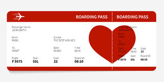 Red boarding pass Stock Photos