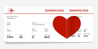 Red boarding pass Stock Photo