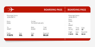 Red boarding pass Stock Images