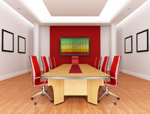 Red boardroom Stock Photos