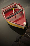 Red Boat. Small red boat docked in a park royalty free stock photos