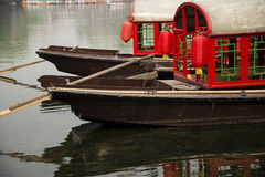 The red boat. Beijing Shichahai China red boat Royalty Free Stock Photo