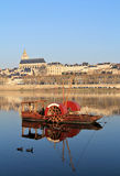 Red boat with Blois Royalty Free Stock Images