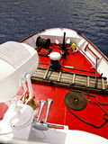 Red Boat Bow Royalty Free Stock Photography