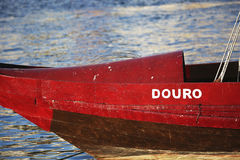 Red boat on Douro river Stock Images
