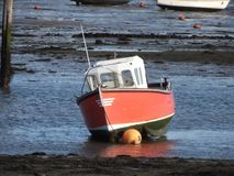 Red Boat. A Red Boat In A Harbour royalty free stock photography