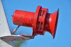Red boat horn Royalty Free Stock Image