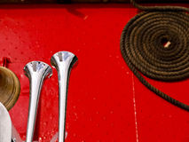 Red Boat Horns Royalty Free Stock Photos