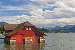 red boat house Royalty Free Stock Image