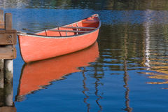 Red Boat and Reflection. Red boat at Venice Beach in California Royalty Free Stock Photo