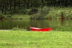 red boat Stock Images