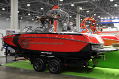 Red Boat  Super Air Nautique  in the exhibition Crocus Expo in M Stock Photography
