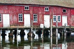 Red_Boathouse Photographie stock
