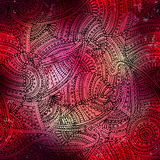 Red boho pattern Royalty Free Stock Images
