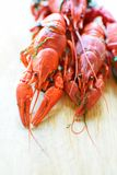 Red boiled crayfish stock photo