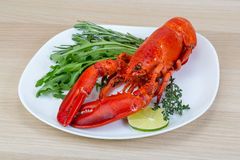 Red boiled lobster Stock Photos