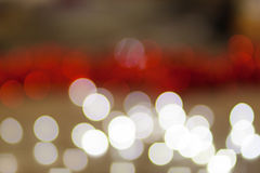 Red bokeh Abstract Christmas background wallpaper Stock Images