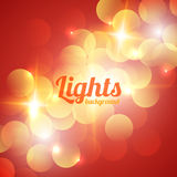 Red Bokeh Abstract Light Background Stock Images