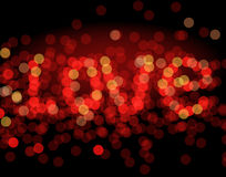 Red bokeh as background Stock Images