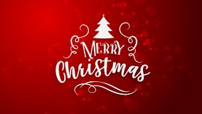 Red background with Merry Christmas greeting stock illustration