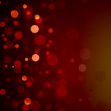 Red bokeh Christmas background bubbles Stock Photography
