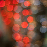 Red bokeh christmas lights Royalty Free Stock Photography