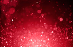 Red bokeh lights background Stock Images