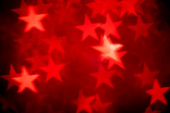 Red bokeh of stars background Stock Photography