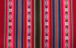 Red bolivian pattern. Red national pattern of bolivian indigenous peoples Royalty Free Stock Photos