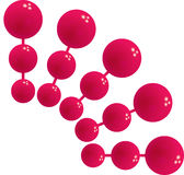 Red boll. Ball circle science flash different  design Royalty Free Stock Photos