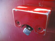 Red bolt on the Skyte Royalty Free Stock Photo
