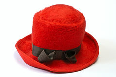 Red bonnet. On white isolated Royalty Free Stock Images