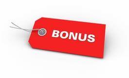 Red Bonus tag. Illustration of red Bonus tag; on white background royalty free illustration
