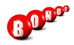 Red bonus word Royalty Free Stock Photos