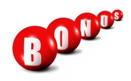 Red Bonus Word Royalty Free Stock Photos