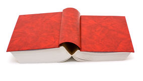 Red book. Open red book isolated on white background Stock Photography