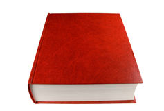 Red book. Big red book, isolated on white, clipping path included Stock Photography