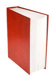 Red book. Big red book, isolated on white, clipping path included Royalty Free Stock Photo