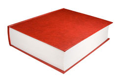 Red book. Big red book, isolated on white, clipping path included Royalty Free Stock Images