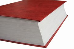 Red book. Closed hard cover red book Stock Photography
