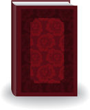 Red Book. Beautiful red big book in cover with flowers Royalty Free Stock Photos