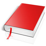 Red book. Isolated on white Royalty Free Stock Photography